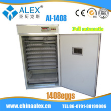 High quality egg incubator automatic turning AI-1408 quail egg industries in italy