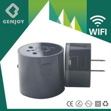 GENJOY 2014 universal power WIFI travel adapter with usb