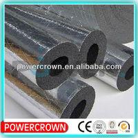 heat insulation foam rubber material aluminium foil faced rubber foam tubing/waterproof rubber foam pipe insulation