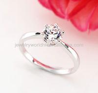 diamond jewelry, Authentic Austrian crystal 18K white gold plated ring diamond jewelry