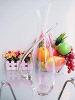 Manufacturer wholesale decorative art glass decanter/beverage carafe 1800ml/60oz(glass factory had passed FDA/EU/SGS)