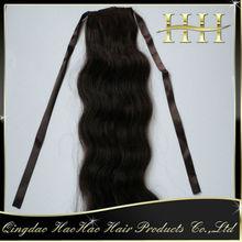 factory price wrap around human hair ponytail hot sale
