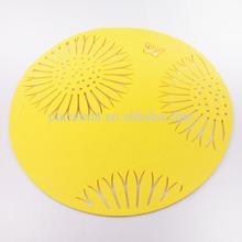 sunflower felt placemat