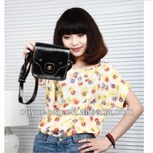 2015 Fashion cheap popular PU Korean style lovely shoulder bags