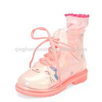 pvc transparent kids rain boots gumboots