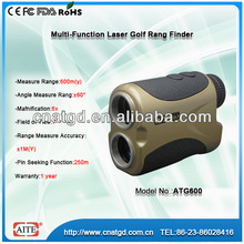 6*24 600m laser measuring device with golf range finder and golf laser slope finder