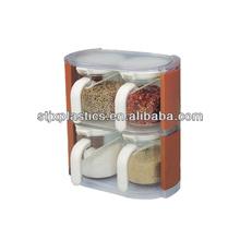 4-Bowl deluxe plastic cruet sets