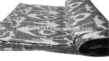 RTKQ-2 Traditional Vintage Ikat kantha quilt kantha handwork wholesale Ikat kantha quilts / Bed covers From Jaipur