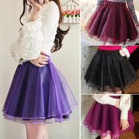 New 2014 latest skirt design picture girls High Waist Slim Organza Tutu Mini Skirt A-line Pettiskirt Flared Skirt 6 Colors 19959