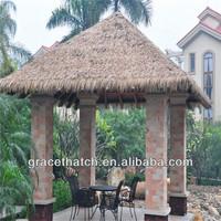 Factory price Plastic resort zoo tiki bar roofing fibre thatch shingle