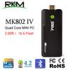 RKM MK802IV Quad core Android 4.2 XBMC RK3188 2G DDR3 16G ROM Bluetooth