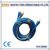 Frosted Blue&Black Transparent Audio Cable RCA Plug Cable