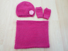 Fashion 100% Acrylic knitted scarf gloves and hat sets for children