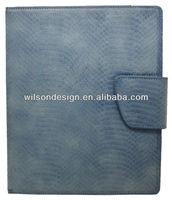 Fashion python pattern leather decorative case for ipad