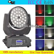 Professional Stage Light Show 36*12W Quad LED Zoom Moving Head Wash Light