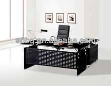 tempered glass office furniture floor computer desk PT-D067