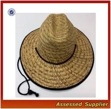 Australia straw surf hat/ mens straw hat promotional/cheap mens straw hats