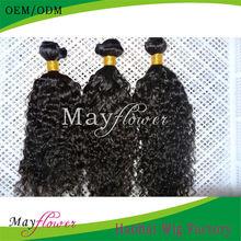Unprocessed jerry curl human hair weave 3bundles/lot no shedding no mix no tangle