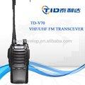 Td-v70 vhf professionnel/talkie walkie uhf transceiver radio militaire