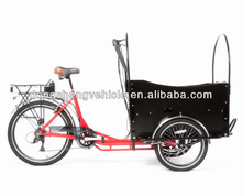 cargo bicycle cargo trike cargo tricycle with cabin