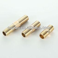 Brass hex nipple tube fitting male nipple/Brass hose barb/water meter coupling