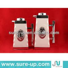 Antique plastic thermos,coffee water jug, white coffee jug