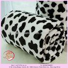 2014 new design super soft cow print flannel fleece microfleece blanket