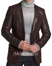 New Popular Man Mens Leather Blazer