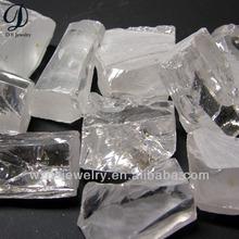 Wuzhou synthetic gems white cz stone raw material rough uncut diamond