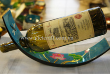 Lacquer wine bottle holder a nice gift for home decoration 100% hand made from vietnam cheap whole selling price and quality pro