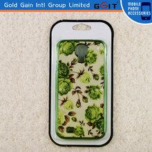 [GGIT] flower printing plating case for samsung s4, I9500, I9505