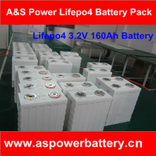3.2V 160AH LifePO4 battery for electric motorcycle EV