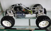 sex rc model 1/5th scale 4WD 2.4G gas powered truck With sensitive Reverse System