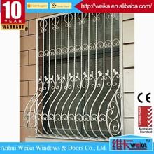 modern wroguht iron safety window grill design