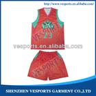 School basketball uniforms with custom design