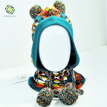 2014 wholesale fashion winter knitted earflap hat