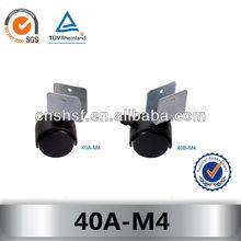plastic u shape caster wheel 40A-M4