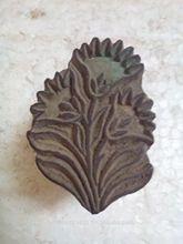 Vecchio handcarved bella gemma fiore modello woodentextile stampa di blocco/timbro