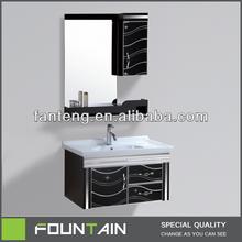 Black Antique Cheap Hanging Vanity Dresser with Mirror New Bathroom Vanities