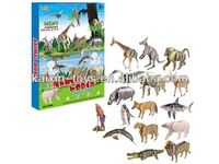 10183853 DIY 3D zoo animal model for kids 94 pieces