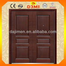 Security Entry Steel Wood Armored Double Door A-D9