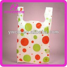 Yiwu printed hdpe tshirt small shopping bags
