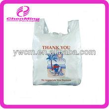 Yiwu HDPE plastic tshirt thank you shopping bags