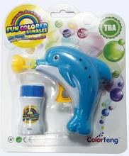 5'' Dolphin Bubble Gun With 30ml Bottle of Blue Bubbles
