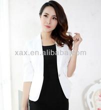 2014 latest simple office suit office uniform blouse design
