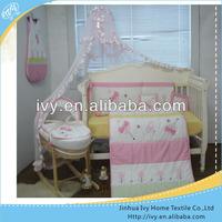 animal embroidery children cotton bedding set