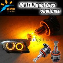 Error free car fashion Cr-ee e90 H8 20w led marker angel eyes 4-smd for bmw e92 e87 e82 e90 e93 M3 M6 Z4
