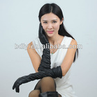 fashion sex lady long leather opera gloves with smocking