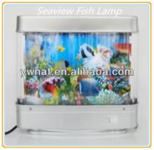 Modern shape Seabed World Lamp Lighting Move Decorative Seabed Fish Lamp