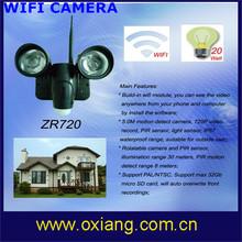 wireless outdoor / indoor wifi security floodlight camera